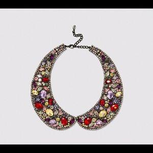zara statement necklace jewel pan collar sparkle